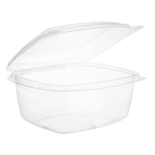 Vegware Compostable PLA Hinged-Lid Deli Containers 473ml / 16oz (Pack of 300)
